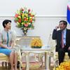 フン・セン首相との会談