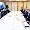 オーストラリアのターンブル首相との朝食会�A